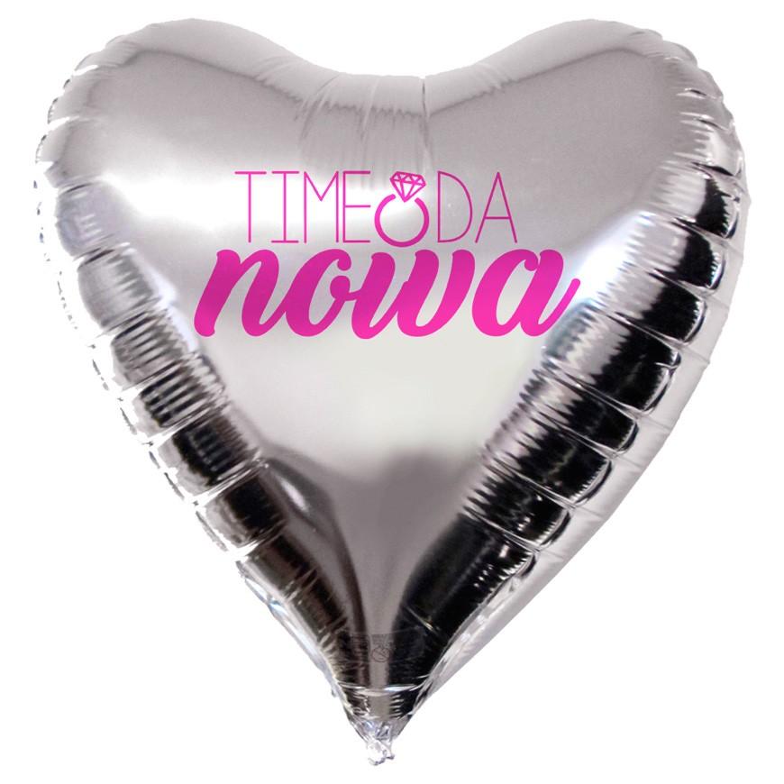 Balão Coração Metalizado Personalizado para Despedida de Solteira