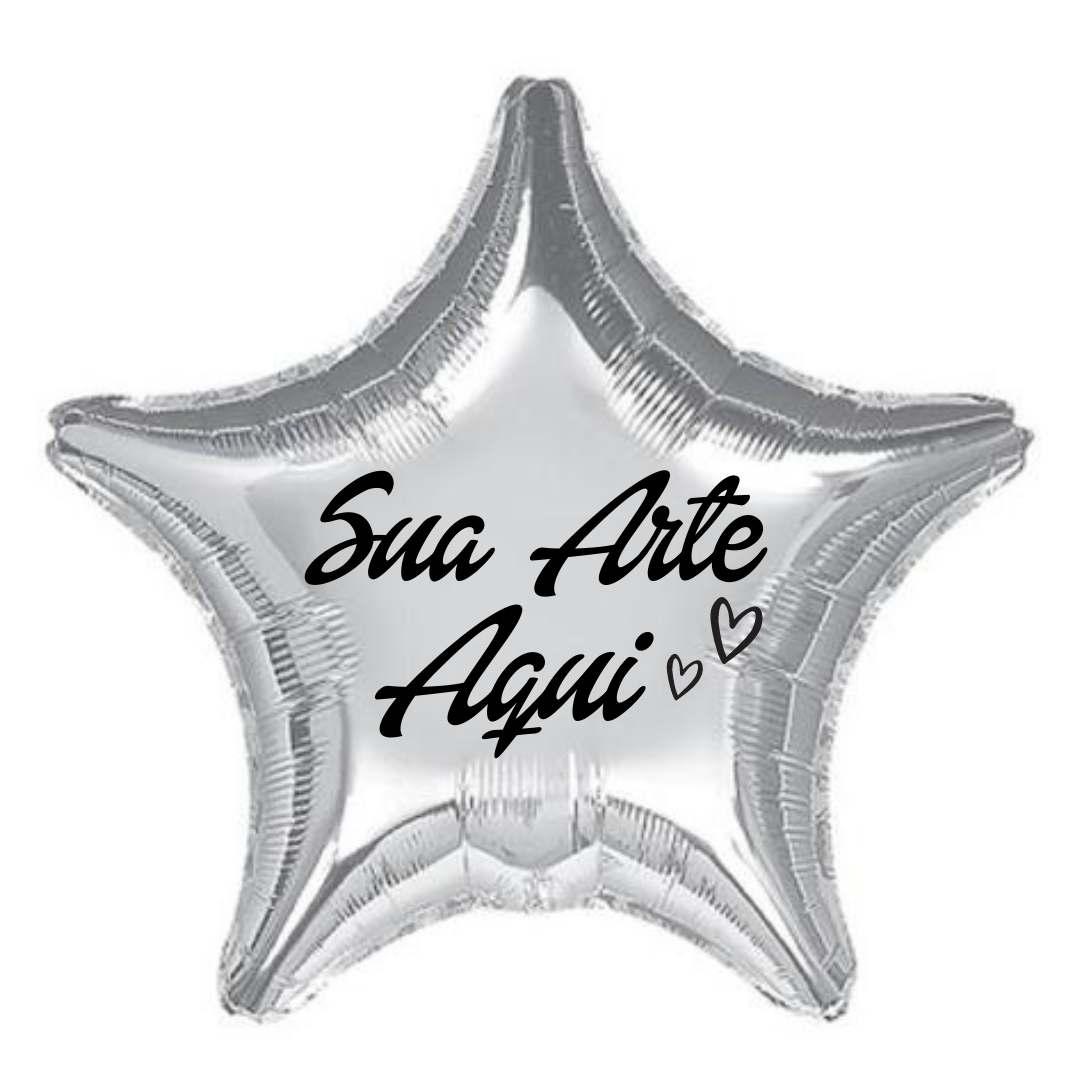 Balão Estrela Metalizado Personalizado para Despedida de Solteira