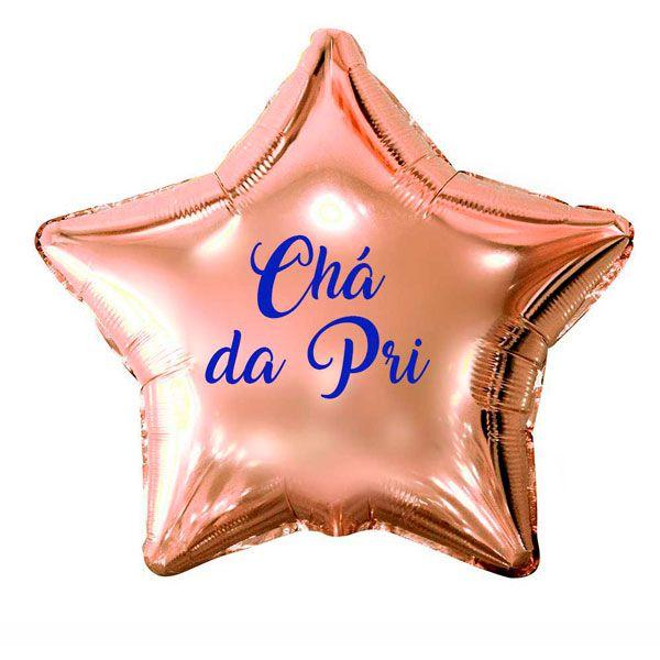 Balão Estrela Rose Gold Personalizado para Despedida de Solteira