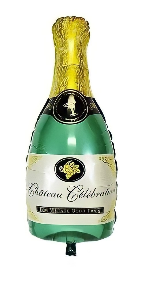 Balão Metalizado Garrafa de Champagne