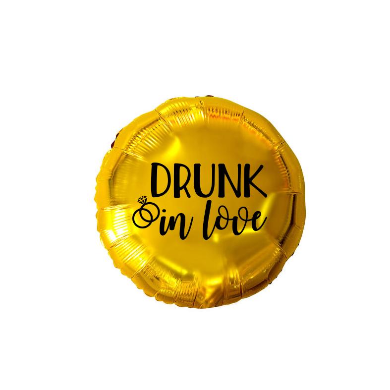 Balão Redondo Metalizado Personalizado para Despedida de Solteira