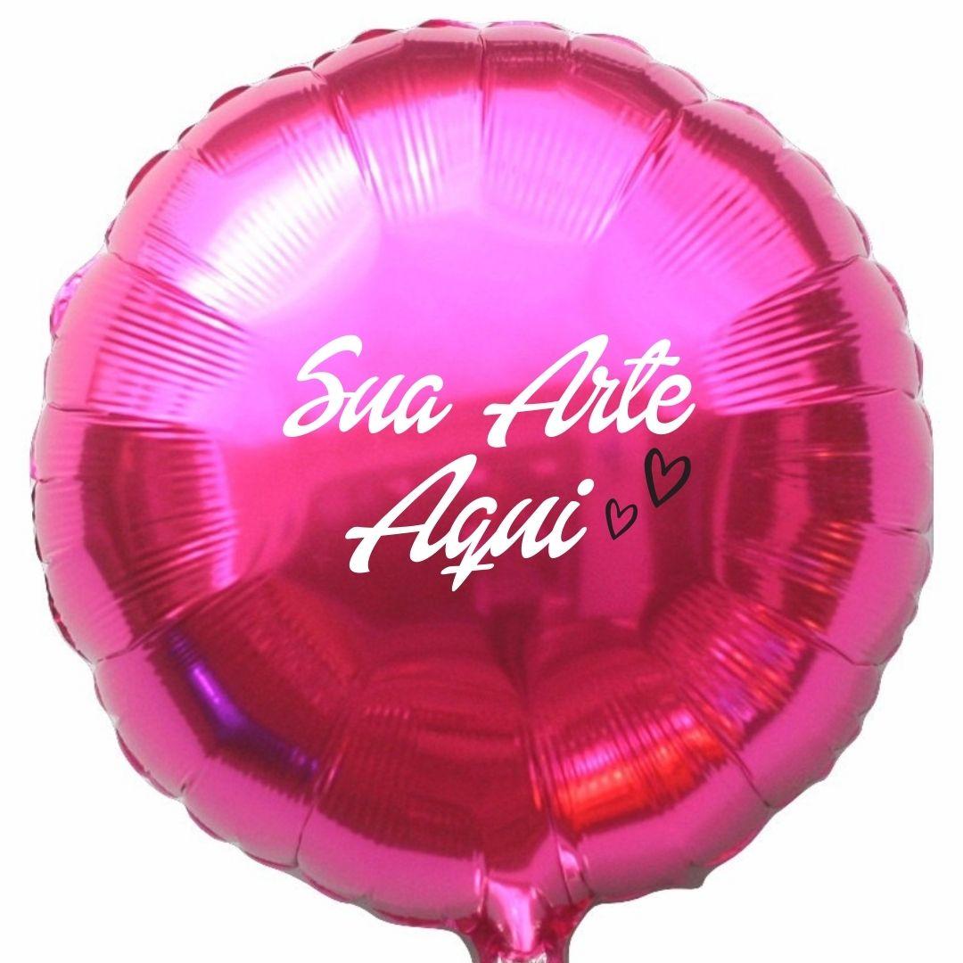 Balão Redondo Metalizado Personalizado