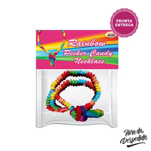 Balas Rainbow Pecker Candy Cock Despedida de Solteira