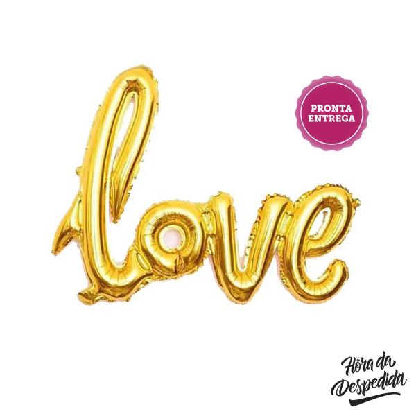 Balões Love Caligráfico Pronta Entrega para Despedida de Solteira