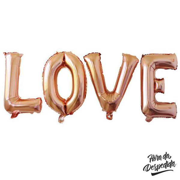 Balões Love para Despedida de Solteira