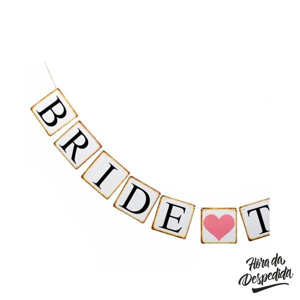 Banner Bride to Be Quadradinhos Pronta Entrega para Despedida de Solteira