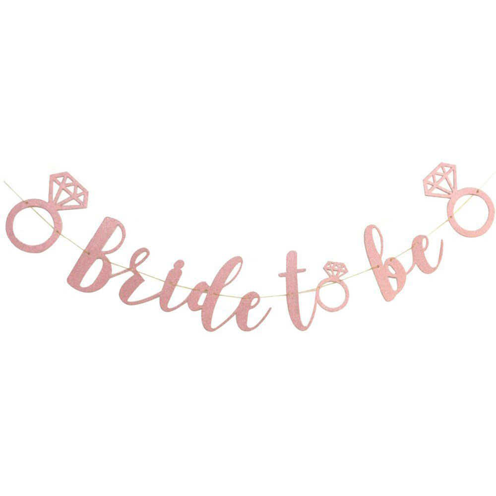 Banner Bride to Be Rose Gold Pronta Entrega para Despedida de Solteira