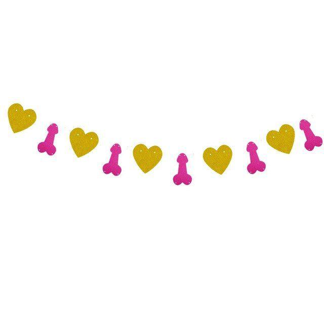 Banner Coração Pronta Entrega para Despedida de Solteira
