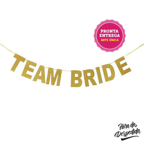 Banner Team Bride para Despedida de Solteira