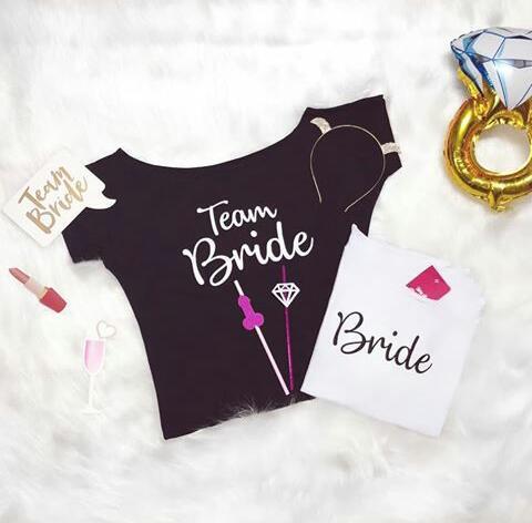 Blusa Canoa Bride Pronta Entrega para Despedida de Solteira
