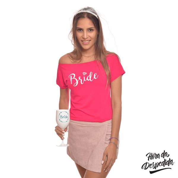 Blusa Gola Canoa Personalizada para Despedida de Solteira