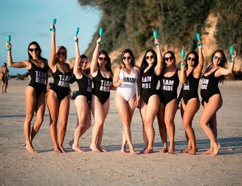 Body Ballet Team Bride Preto Pronta Entrega para Despedida de Solteira