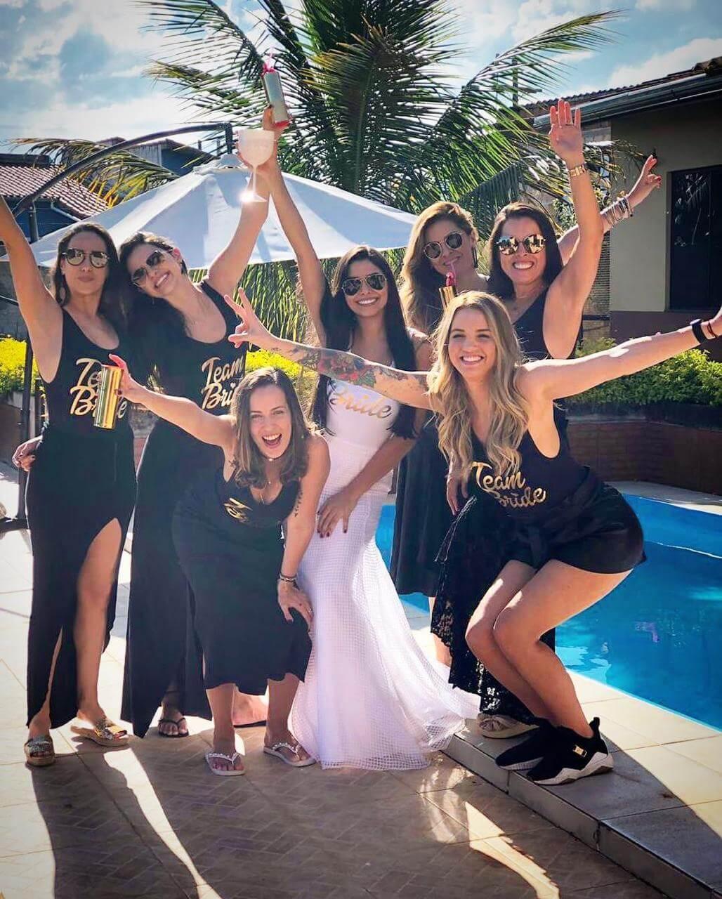 Body Cavado Team Bride Pronta Entrega para Despedida de Solteira