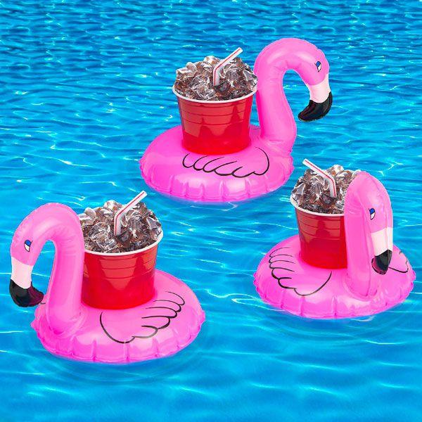 Boia Porta Copo Flamingo Pronta Entrega para Despedida de Solteira