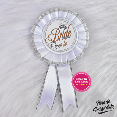 Botton Bride Branco Pronta Entrega para Despedida de Solteira