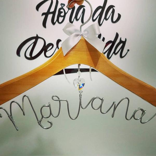 Cabide Madeira Natural Personalizado para Despedida de Solteira