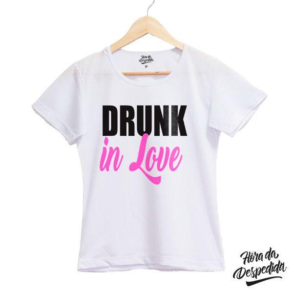 Camiseta Baby Look Branca Personalizada Team Bride para Despedida de Solteira