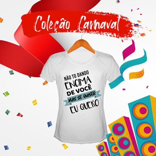 Camiseta Baby Look Feminina Carnaval Personalizada para Despedida de Solteira