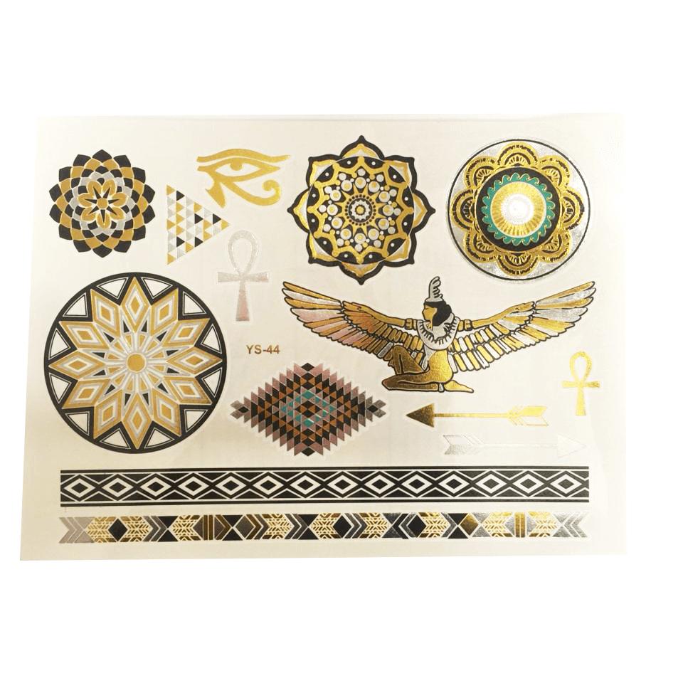 Cartela Tatuagem Temporária Metalizada Pequena Pronta Entrega para Despedida de Solteira