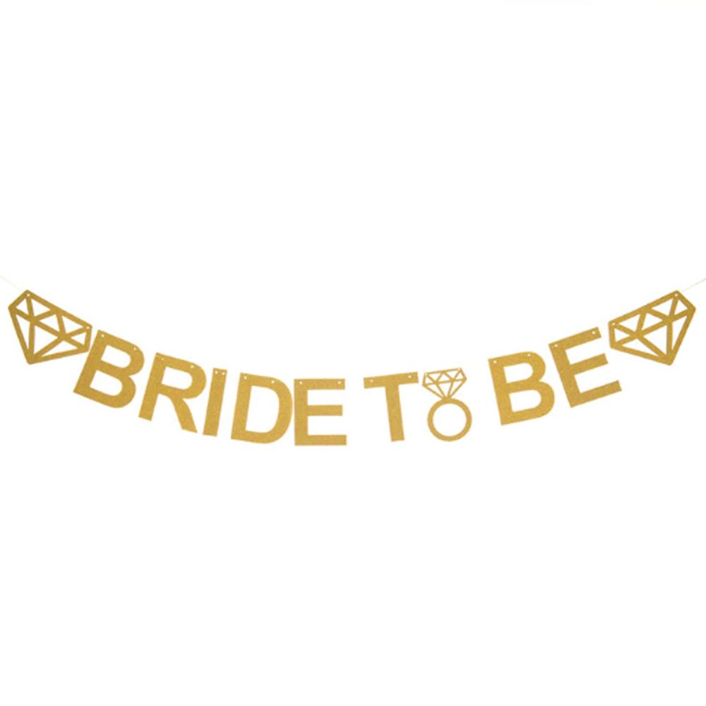 Banner Bride to Be Dourado Pronta Entrega para Despedida de Solteira