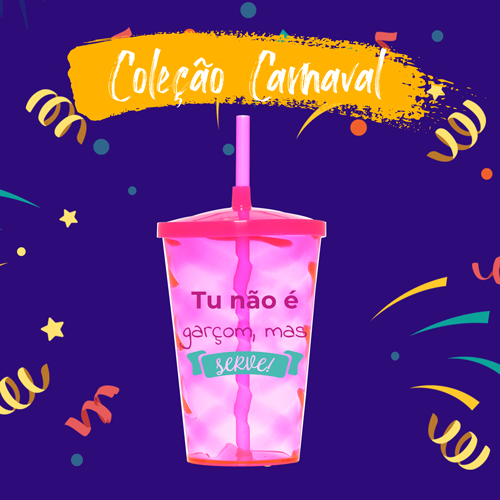 Copo Shake Carnaval Personalizado para Despedida de Solteira