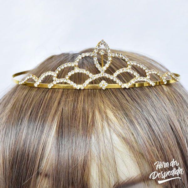 Coroa Grécia Dourada Pequena