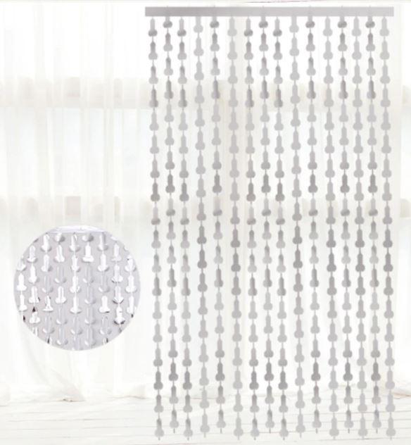 Cortina cascata decorativa metalizada willy para Despedida de Solteira