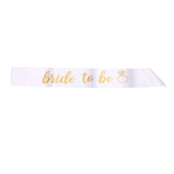 Faixa Bride to Be Branca Pronta Entrega para Despedida de Solteira