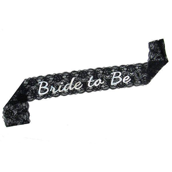 Faixa Bride To Be Renda Pronta Entrega para Despedida de Solteira