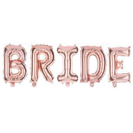 Faixa de Balões Bride Rose Gold Pronta Entrega para Despedida de Solteira