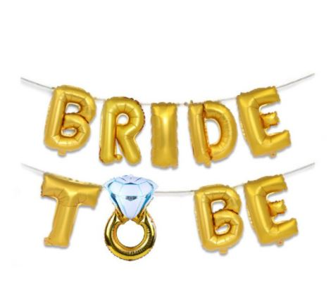 Faixa de Balões Bride To Be Dourada Pronta Entrega para Despedida de Solteira