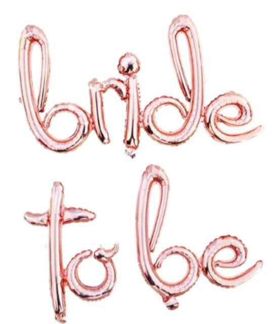 Faixa de Balões Bride To Be Rose Gold Pronta Entrega para Despedida de Solteira