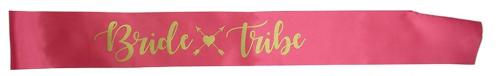 Faixa de Cetim Bride Tribe Rosa Pronta Entrega, Faixa Bride Tribe, Faixa Decorativa Despedida de Solteira