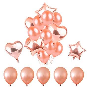 Kit Balões Rose Gold Pronta Entrega para Despedida de Solteira