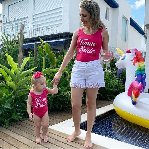 Kit Body Mãe e Filha Personalizados para Despedida de Solteira