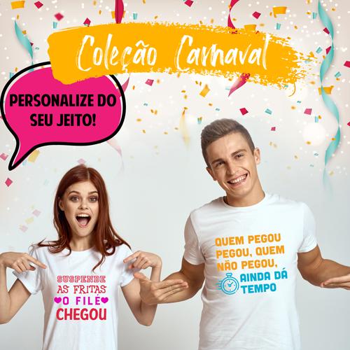 Camiseta Carnaval Personalizada para Despedida de Solteira