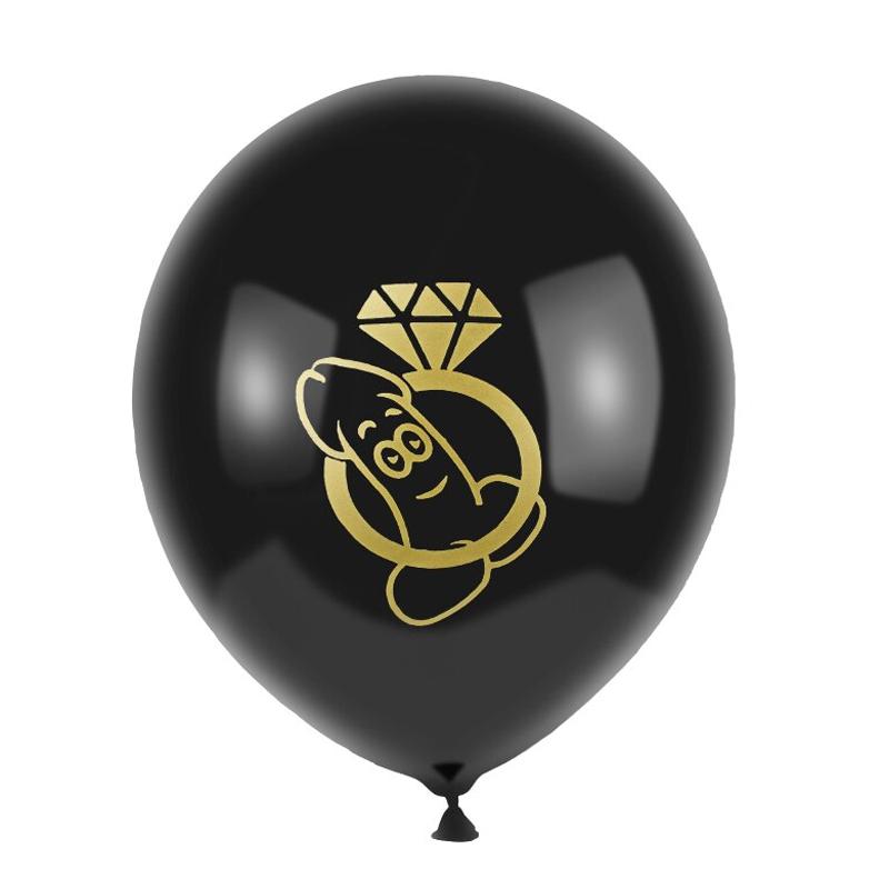 Kit de 8 Balões Pênis Sapequinha Preto Pronta Entrega para Despedida de Solteira