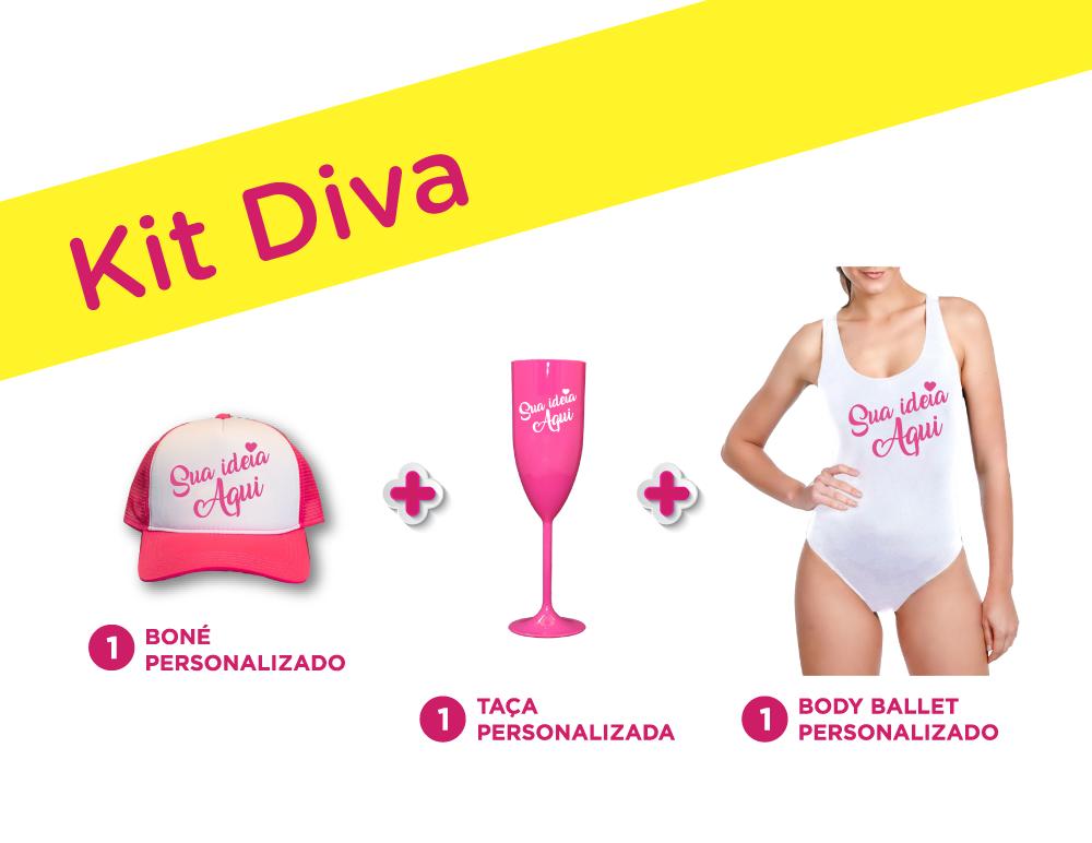 Kit Diva Personalizado para Despedida de Solteira