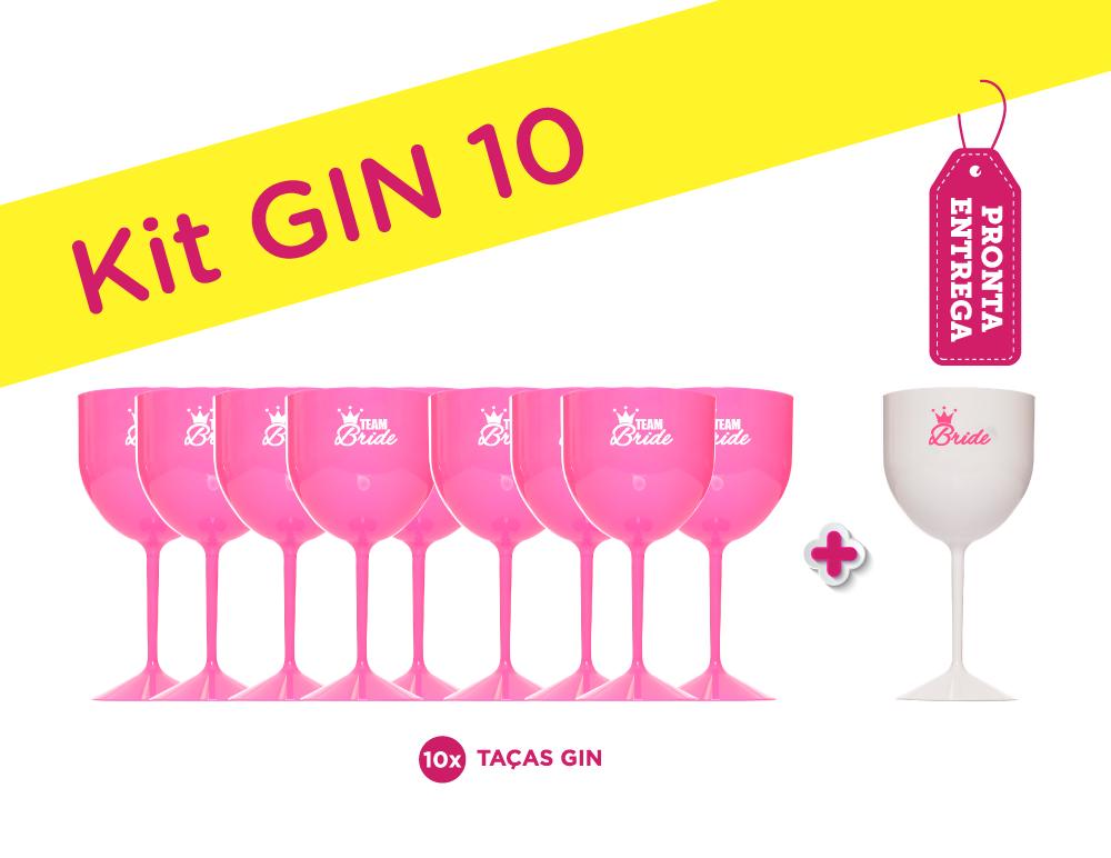 Kit Gin 10 Rosa Pronta Entrega para Despedida de Solteira