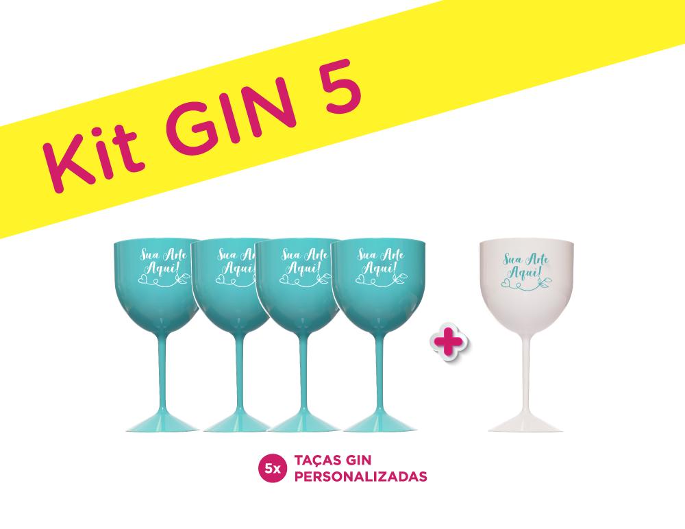 Kit Gin 5 Personalizado para Despedida de Solteira