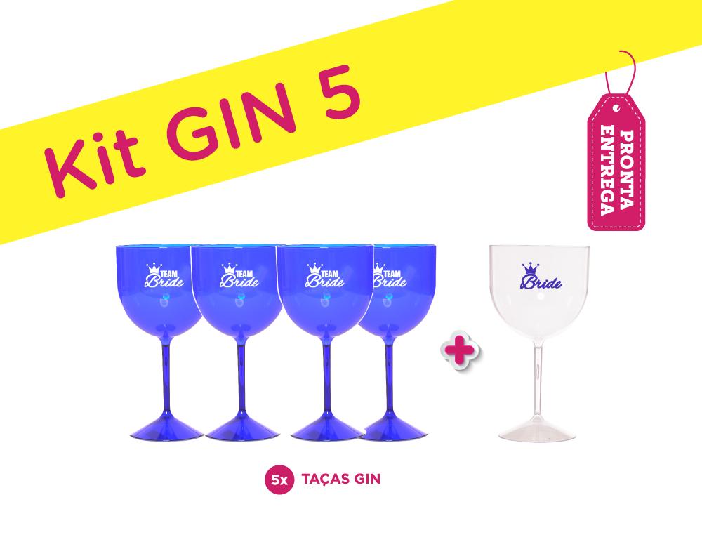 Kit Gin 5 Azul PRONTA ENTREGA para Despedida de Solteira
