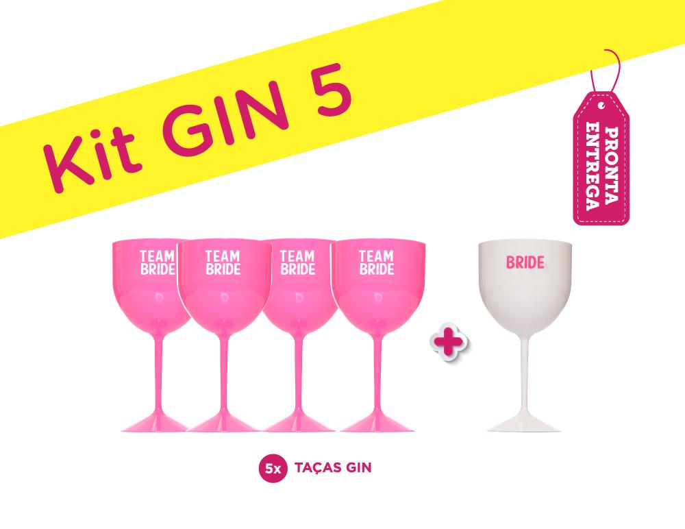 Kit Gin 5 Rosa Pronta Entrega para Despedida de Solteira