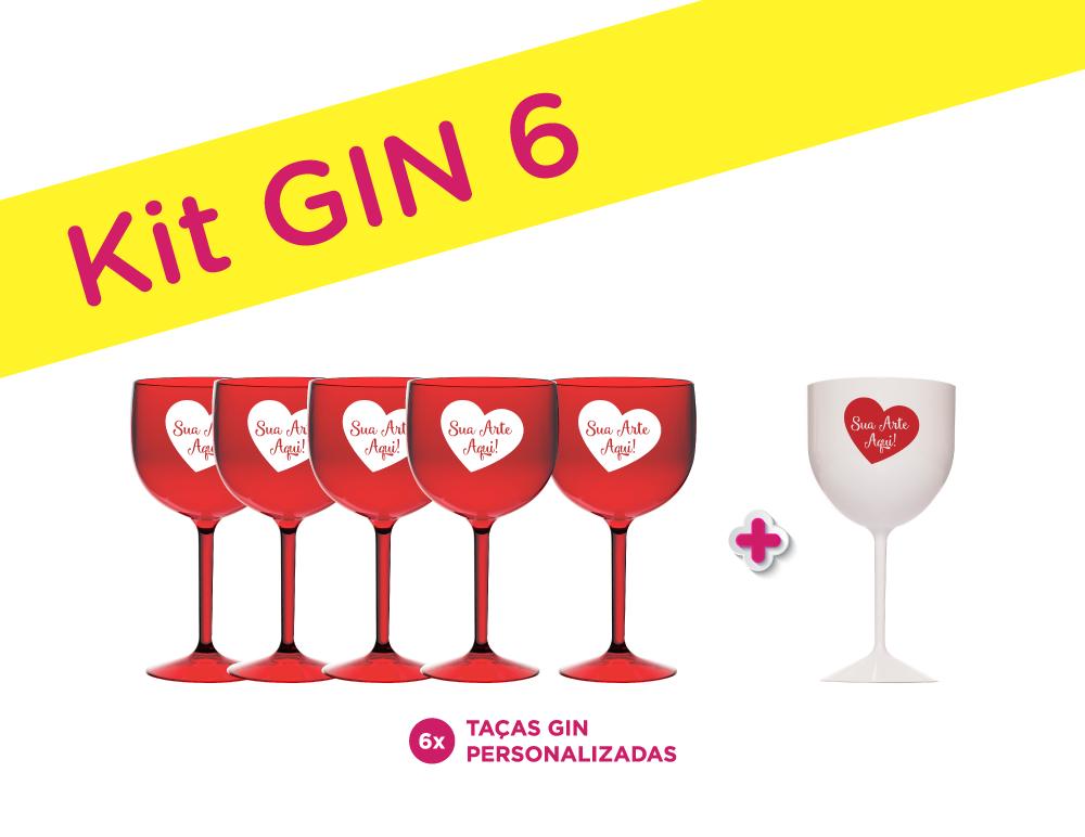 Kit Gin 6 Personalizado para Despedida de Solteira