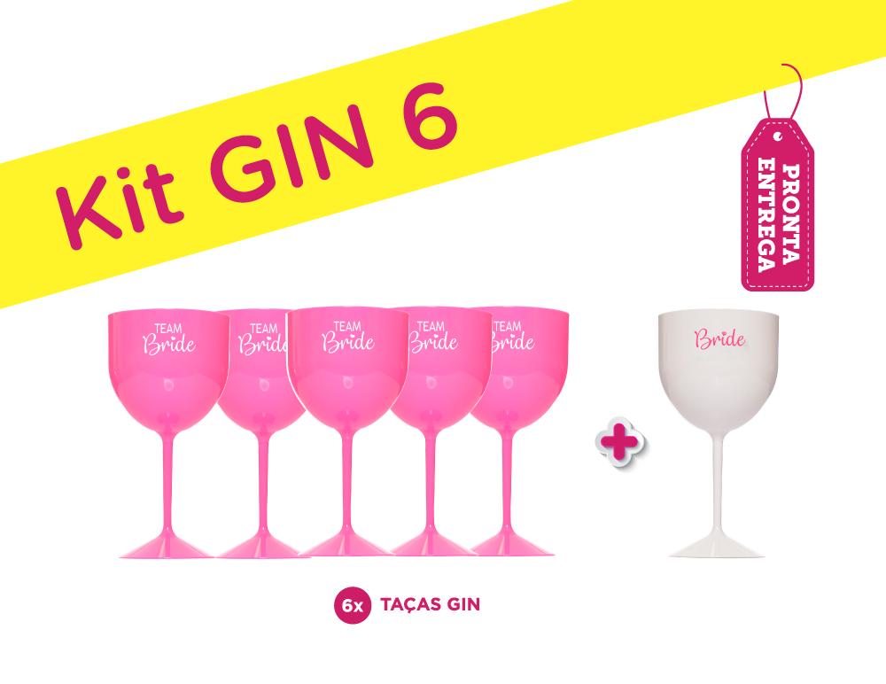 Kit Gin 6 Rosa Pronta Entrega para Despedida de Solteira
