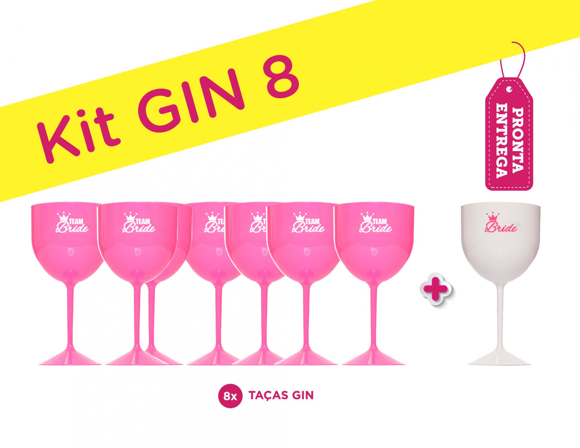 Kit Gin 8 Rosa Pronta Entrega para Despedida de Solteira