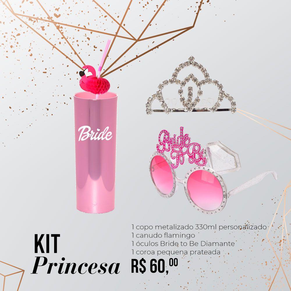 Kit Princesa Personalizado para Despedida de Solteira
