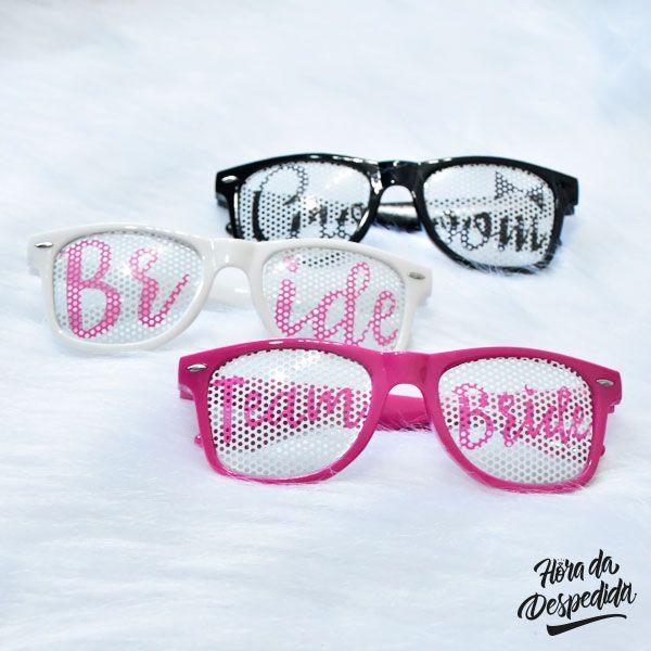 Óculos Bride, Team Bride e Groom