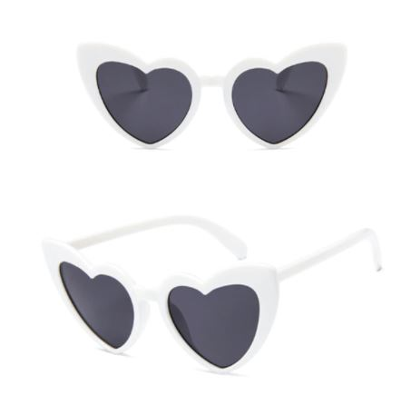 Óculos coração Branco