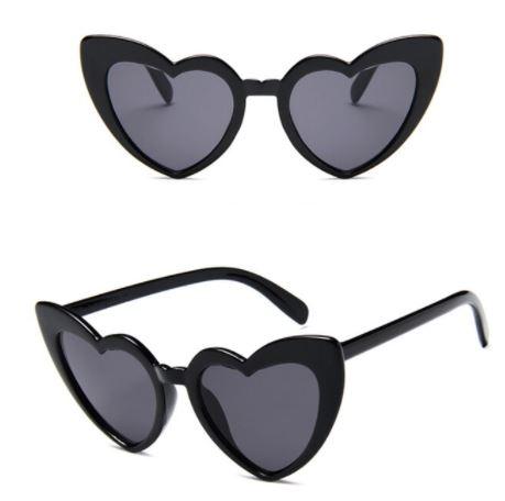 Óculos coração Preto