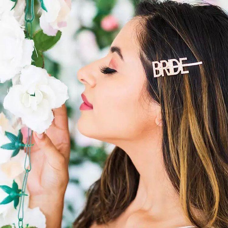 Presilha Bride Rosé Gold Pronta Entrega para Despedida de Solteira